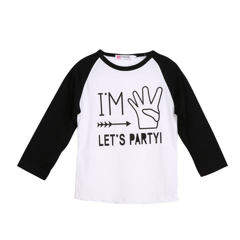 1 pcs New Cotton Toddler Kids Baby Boys Girls Letters Print Long Sleeve T-shirt Long Sleeve Tops Clothes Fashion T Shirts