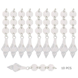 10 Pcs Christmas Acrylic Crystal  Octagonal Beads String Drops Pendant Garland Chandelier Hanging Curtain Interior Decor 14/38mm