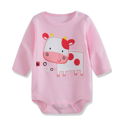100% Cotton Baby Bodysuit  Autumn Newborn Cotton Body Baby Long Sleeve Underwear Next Infant Boy Girl Pajamas Clothes Rabbit 12M