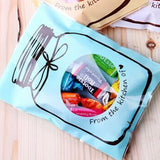 100pcs Bottle Pattern Self Adhesive Pouch Wedding Birthday Party Gift Candy Bag Plastic Biscuit Cookie Baking Packaging Bag B096
