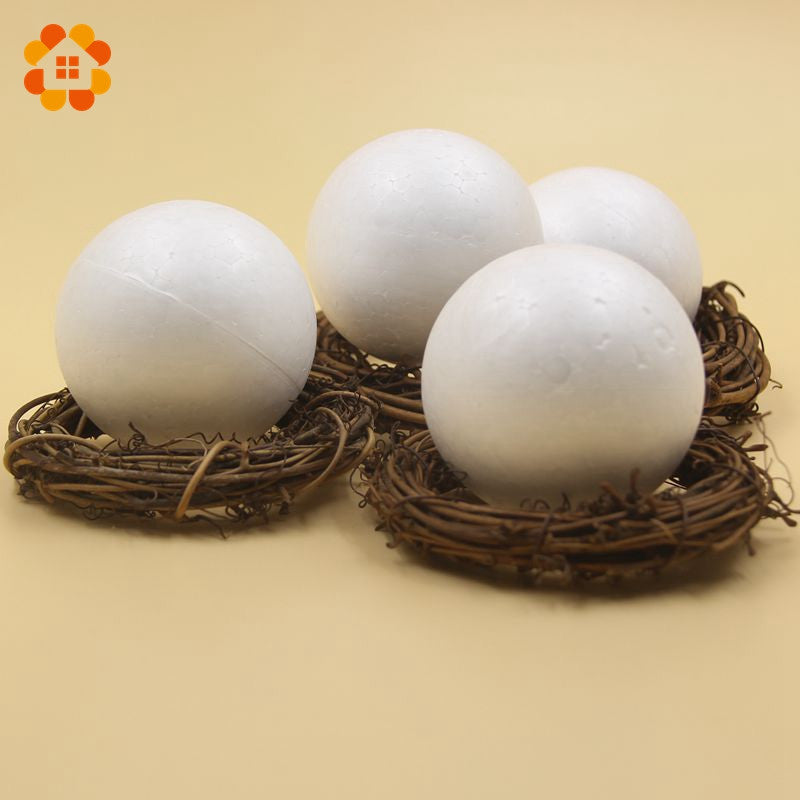 10PCS/Lot 7CM White Modelling Polystyrene Styrofoam Foam Ball Spheres For New DIY Crafts Supplies Christmas Party Decoration