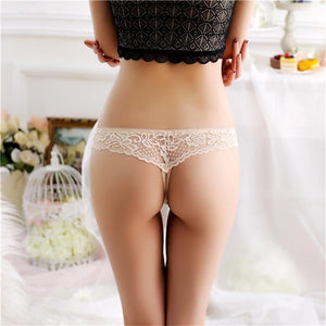 Low-Rise Seamless  Knickers G-string Thongs Ice Silk Briefs Lace Panties