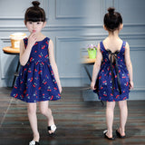 2-11 ages 2016 Summer Girl Dress Casual Dresses Girls Clothes Printing Floral Sleeveless Dress Dress New Year Christmas
