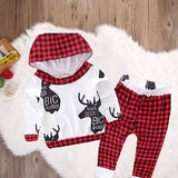 2 PCS Newborn Baby Triangle suit kids Girls Boys Clothes Long Sleeve T-shirt Tops Pants Outfit
