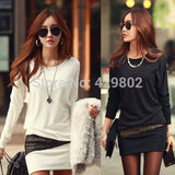 2015 Hot Sales Fashion Women Long Sleeve Bodycon Slim Cocktail Sexy Party Mini vestidos casual dress