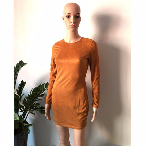 919c1c1848ca ... 2015 Long Sleeve Slim Party Dress Sexy Club Brown Vestido Women Winter  Dresses Kylie Jenner Skin ...