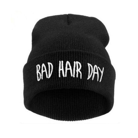91c5aff3d06 ... 2016 Fashion New Unisex Women Mens Winter Bad Hair Day Snap Back Beanies  Hat Knit Hip ...
