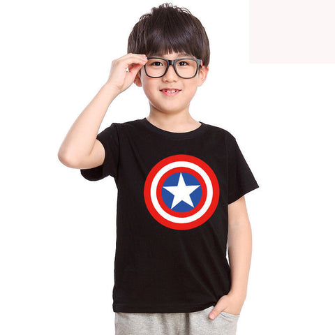 c5f95438 ... 2016 New Baby Kid Boys Captain America Short Sleeve Boys Cotton Tops Tee  Summer T Shirt ...