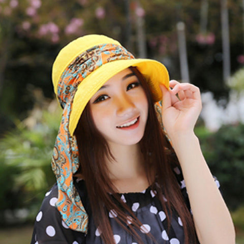 2016 Summer Hats Fashion Face Protection Sun Hat For Women Foldable Anti-UV  Wide Big e2a4f5c9105
