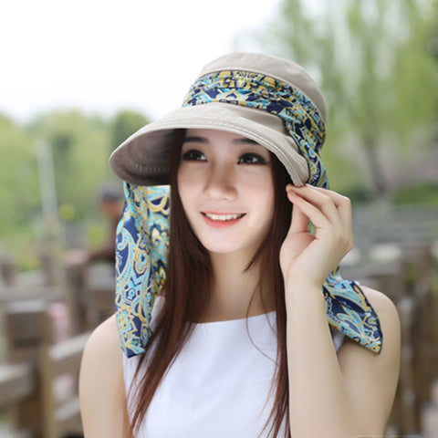 ... 2016 Summer Hats Fashion Face Protection Sun Hat For Women Foldable  Anti-UV Wide Big ... 2099ea76eb9