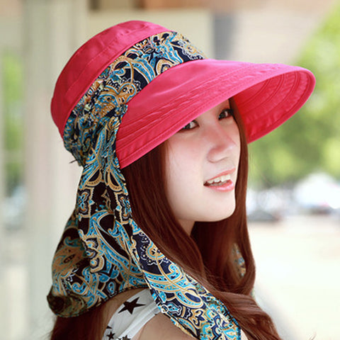 b403ce3e ... 2016 Summer Hats Fashion Face Protection Sun Hat For Women Foldable Anti -UV Wide Big ...