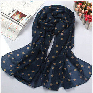 2016  The new high-quality women's fashion dot scarf silk patterned scarves, 160 * 50CM free shipping
