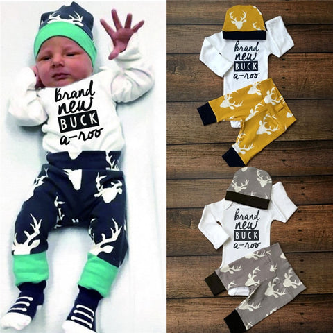 23aad533148c 2016 Toddler Infant Newborn Baby 3PCS Baby Girls Boy Clothing Set 3pcs –  Honeybee Line