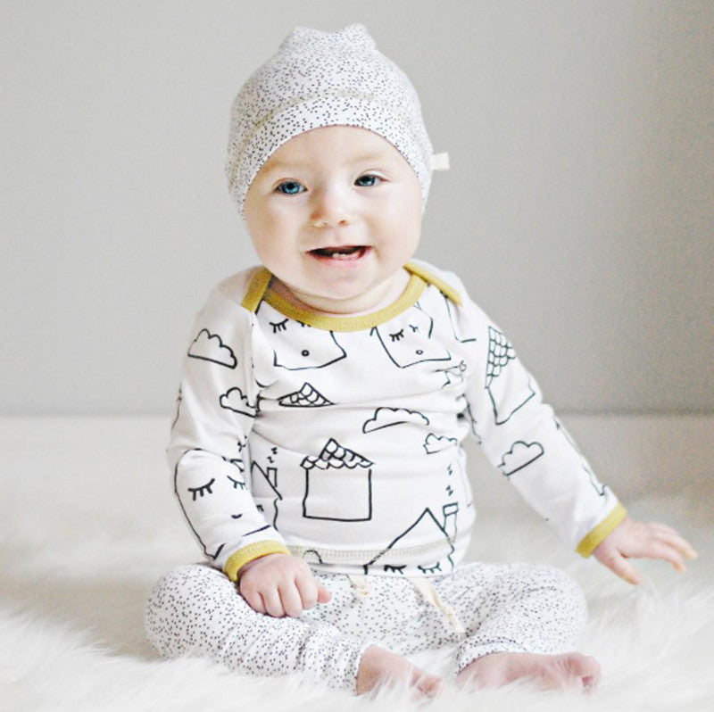 2016 baby girl clothes cotton long sleeve T shirt pants