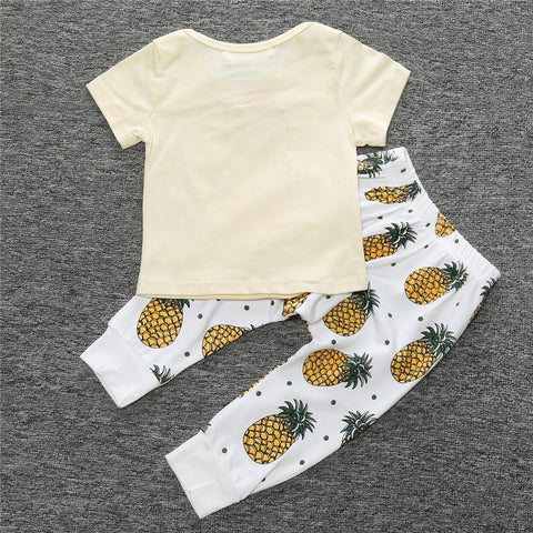 f7b3224d6 ... 2016 summer baby boy clothes infant outfits baby boys clothing sets  fashion cotton letter pineapple short