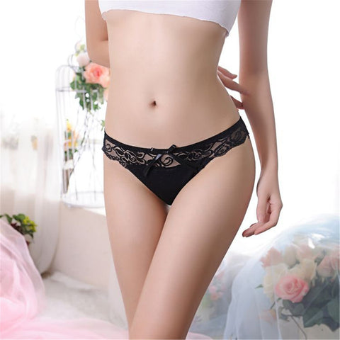 447c7fa26260 ... 2017 Fashion Sexy Women Thongs G-string Lace Cutton Floral Sheer  Underwear Soft Lingerie Briefs ...