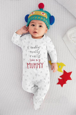 68000a3f1b84 ... 2017 New Baby Boy Clothes Boys Girls Clothing Baby rompers Baby Clothing  I Love My Mom ...