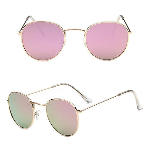 f4c0773a159d 2017 New Style Sunglasses Women Metal Frame Circle Glasses Mirrored Ro –  Honeybee Line
