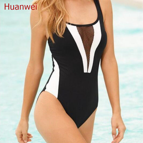 6573dc6e55f0 2017 New bandage Bikinis Brand Swimwear Women Sexy High Waist one piec –  Honeybee Line
