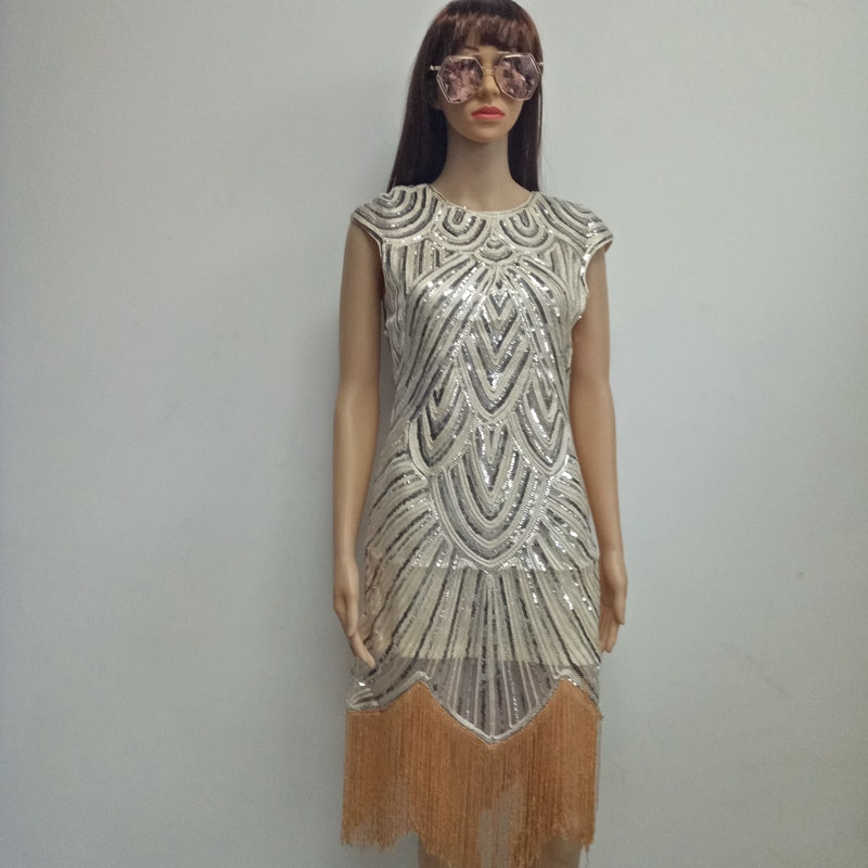 2017 Summer Vintage 1920s Flapper Great Gatsby Sequin