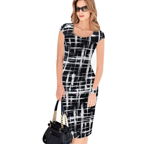 2fbba4840b0 2017 Summer Women Office Dress Work Business Casual Sleeveless Sexy Bandage  Party Bodycon Dress Vintage Pencil