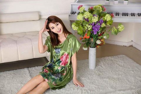 1394dafd9f ... 2017 new hot sale women nightwear Nightgowns girls Floral sleepwear  casual robe night summer dress home ...