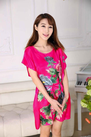 d74b97dfdb 2017 new hot sale women nightwear Nightgowns girls Floral sleepwear casual  robe night summer dress home ...