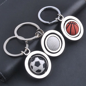 3D Sports Rotating football soccer Keychain Keyring Chain Ring Key Fob ball DE