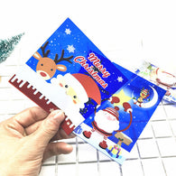 (50pcs/lot)10x10+3cm Happy New Year Christmas Theme, Self Adhesive Cellophane Cookie Snack Bags SG1044
