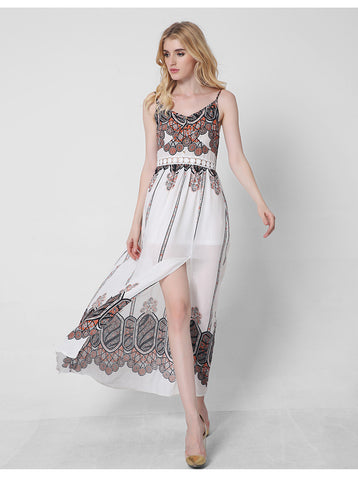 6b2102574bb2 ... Adogirl Women Maxi Dress 2017 New Summer Dresses Boho Style Floral  Printed Sexy Backless Long For