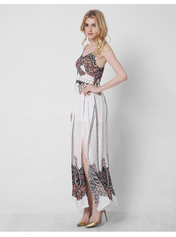 2ea556ea2149 ... Adogirl Women Maxi Dress 2017 New Summer Dresses Boho Style Floral  Printed Sexy Backless Long For ...