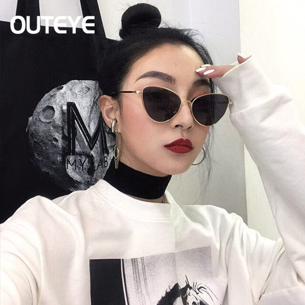 86f7623e4e44 Brand Designer Cat Eye Sun Glasses For Women 2017 Cateye Mirror Sungla –  Honeybee Line