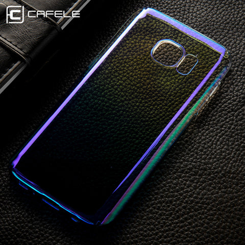 half off 64841 23bd9 CAFELE Case For samsung Galaxy S7 Edge Cases luxury Aurora Gradient Color  Transparent light Hard PC Cover For Galaxy S7 Edge