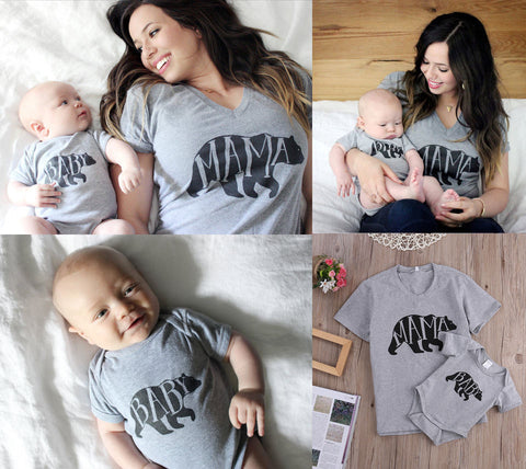 ... Cartoon Family Matching Outfits Toddler Animal Print Top Fashion Cotton  Mom T-shirt Cute Baby ... 5888ccd17