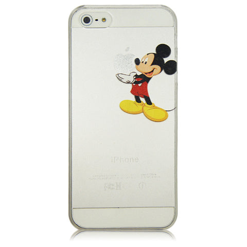 innovative design 905ea 670b9 Cartoon Mickey Spongebob Super Marios Bros Transparent Hard Plastic Case  Cover For iphone 4 4s 5 5s SE 5c 6 6s Plus 7 7 Plus