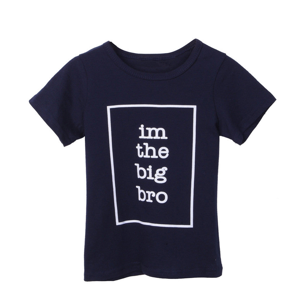 Casual Big Brother Sister Kids T Shirt Letter Print Boy