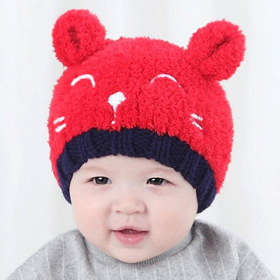 Cute Cat Knitted Baby Caps and Scarves Boys Girls Toddler Crochet Bean –  Honeybee Line 6618b18adb1