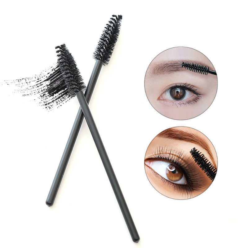 Fm 50pcs pack disposable eyelash brush mascara wands for Mascara with comb wand