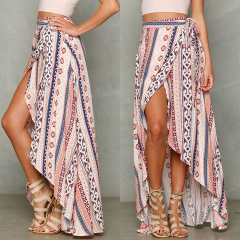 99b7b59ea0d HIRIGIN Vintage floral print long skirts women Summer elegant beach ma –  Honeybee Line