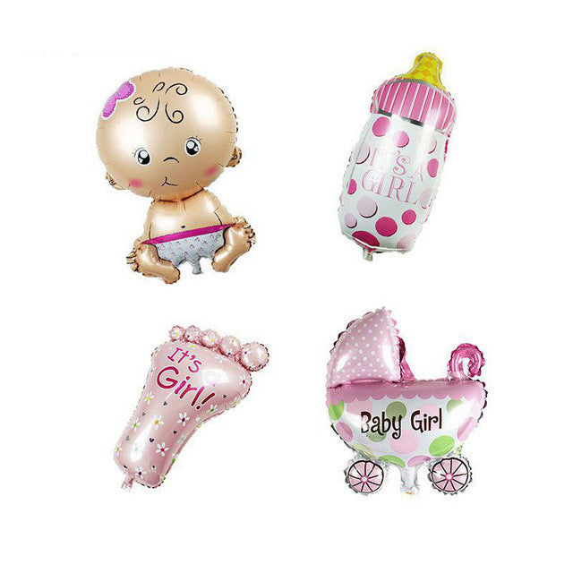 Hoomall 4PCs/lot Angel Baby Shower Foil Balloons Baby Boy Girl Birthday  Party Decoration Baby ...