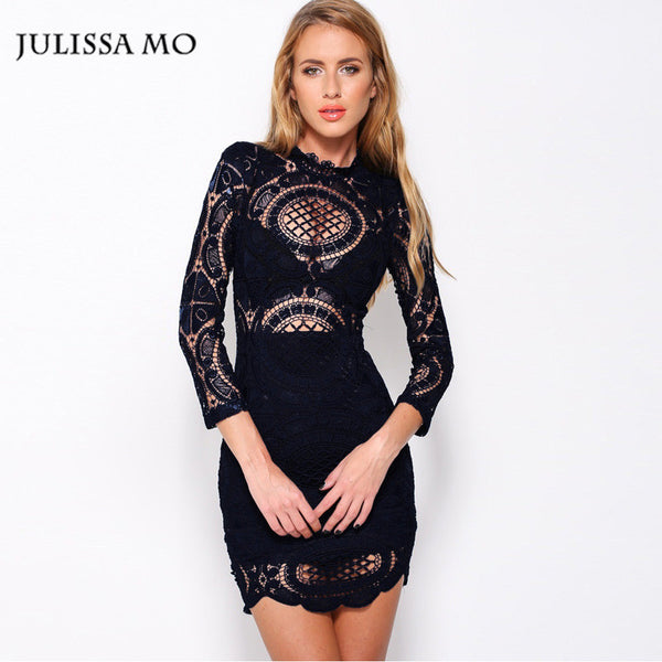 Julissa Mo Summer Dress Women Elegant Lace Crochet Embroidery Dresses Plus  Size Bodycon Dress Beach Robe Femme Vestidos