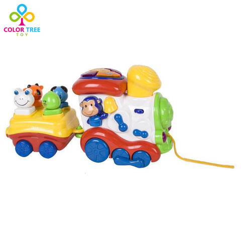 Kids Toys Cartoon Toy Trains for Toddlers with Lights and Music Learni \u2013 Honeybee Line