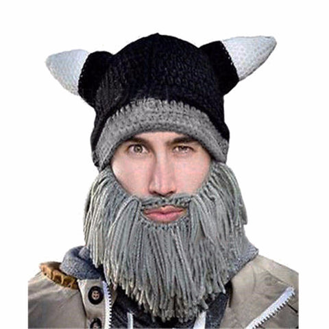 0860945e2b8 Lisli Wig Beard Hats Mad Scientist Caveman Handmade Knit Warm Winter C –  Honeybee Line