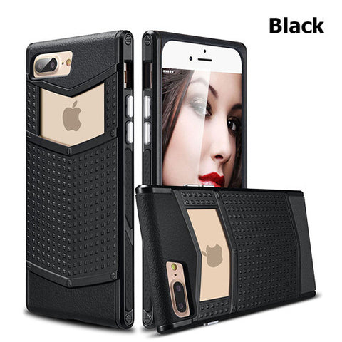 more photos d1d87 dff73 Luxury Armor cover case for iPhone 7 7Plus TPU+PC Silicone hybrid Slim  Shell Grip Rubber Case Cover for Apple iPhone 7 Plus