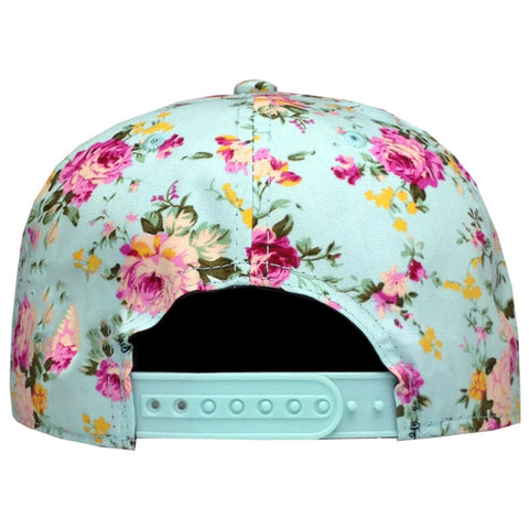 bf91cb1cfd3 ... Men Women Baseball Cap Hip Hop Caps Floral Flower Snapback Hat Hip-Hop  Flat Adjustable ...