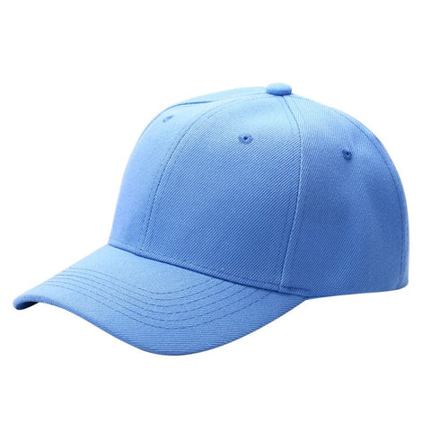 a71ff74590af8 Men Women Plain Baseball Cap Unisex Curved Visor Hat Hip-Hop Adjustable  Peaked Hat Visor Caps Solid