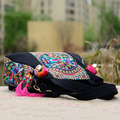 ... National Trend Chinese Ethnic Embroidery Canvas Bag Hmong Boho Thai  Tassel Embroidered Bags Luxury Famous Brand ... 0688f9ca6f13c