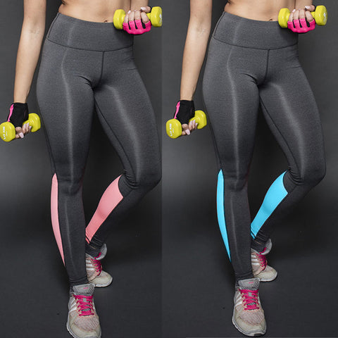 7fc2341972 ... New Sexy High Waist Stretched Sports Pants Gym Clothes Spandex Running Tights  Women Sports Leggings Fitness ...