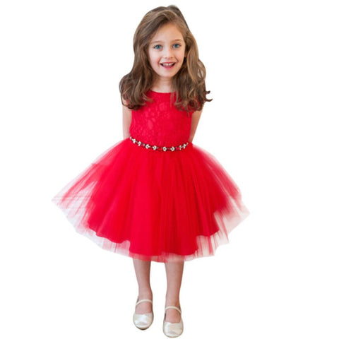 779db22b55d6 New Toddler Girl Party Pageant Dress Lace Tulle Bubble Tutu Dress ...