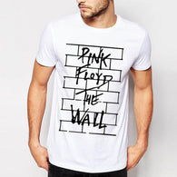 """Pink Floyd"" The Wall Letters Printed T Shirts Men New Arrival Summer Style Short Sleeve t-shirt 2017 O Neck Streetwear Tops"